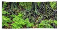 Beach Sheet featuring the photograph Jungle Roots by Les Cunliffe