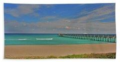 Beach Sheet featuring the photograph 1- Juno Beach Pier by Joseph Keane