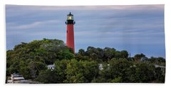 Jupiter Inlet Lighthouse Beach Sheet by Fran Gallogly