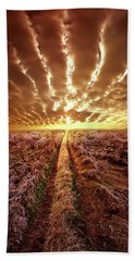 Beach Towel featuring the photograph Just Over The Horizon by Phil Koch