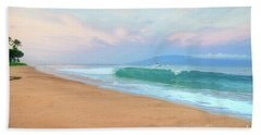 Beach Towel featuring the photograph Ka'anapali Waves by Kelly Wade