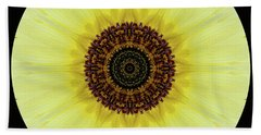 Beach Towel featuring the photograph Kaleidoscope Image Of An Italian Sunflower by Brenda Jacobs