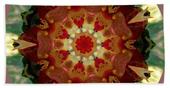 Beach Towel featuring the digital art Kaleidoscope - Warm And Cool Colors by Deleas Kilgore