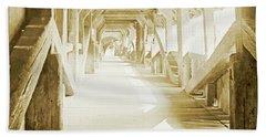 Kapell Bridge, Lucerne, Switzerland, 1903, Vintage, Photograph Beach Towel