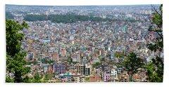 Kathmandu City In Nepal Beach Sheet