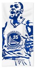 Kevin Durant Golden State Warriors Pixel Art 4 Beach Towel