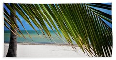 Beach Towel featuring the photograph Key West Palm by Kelly Wade