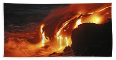 Kilauea Lava Flow Sea Entry, Big Beach Towel