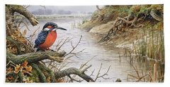 Kingfisher Beach Towel by Carl Donner