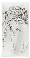 Kiss Of Wind Beach Sheet by Anna Ewa Miarczynska