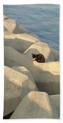 Koneko Means A Kitten. Beach Towel
