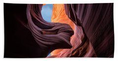 Lady In The Wind Beach Towel