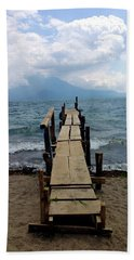 Lake Atitlan Dock Beach Towel