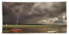 Lake Balaton Painting Beach Towel
