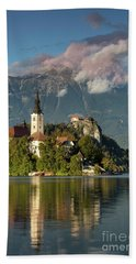 Beach Towel featuring the photograph Lake Bled by Brian Jannsen