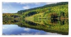 Lake Geirionydd Beach Towel by Ian Mitchell