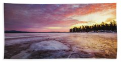 Lake Ice Beach Towel
