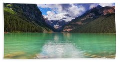 Lake Louise Is Really Green Beach Towel