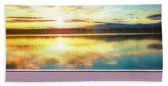 Beach Towel featuring the photograph Lake Sunset, Pocono Mountains, Pennsylvania by A Gurmankin