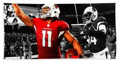 Larry Fitzgerald Beach Towel by Brian Reaves