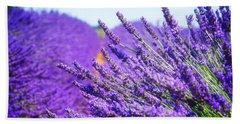 Lavender Field Beach Towel by Anastasy Yarmolovich