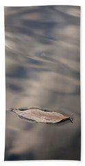 Leaf On Water Beach Towel