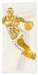 Lebron James Cleveland Cavaliers Pixel Art 10 Beach Towel
