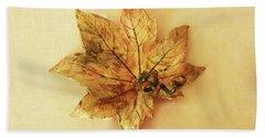 Leaf Plate1 Beach Towel by Itzhak Richter