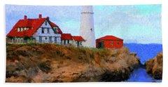 Lighthouse Beach Sheet by Gary Grayson