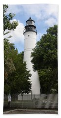 Lighthouse - Key West Beach Sheet by Christiane Schulze Art And Photography