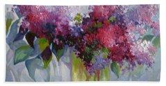 Lilac Flowers Beach Sheet