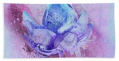 Beach Towel featuring the digital art Lily My Lovely - S114sqc75v2 by Variance Collections