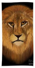 Lion - The King Of The Jungle Beach Sheet