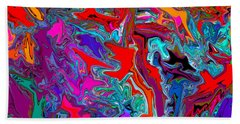 Liquid Color Beach Towel