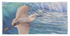Little Egret Beach Towel