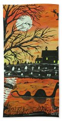 Loch Ness Monster This  Halloween Beach Towel by Jeffrey Koss