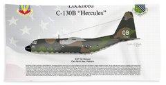 Lockheed C-130b Hercules Beach Sheet by Arthur Eggers