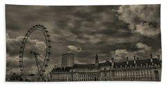 London Eye Beach Towel by Martin Newman