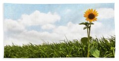 Lonely Flower Beach Towel by Ricky Dean