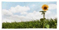 Lonely Flower Beach Sheet