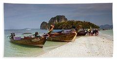 Long-tail Boats, Tup Island Beach Towel