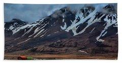 Longyearbyen Beach Sheet by Shirley Mangini