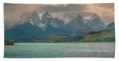 Beach Towel featuring the photograph Los Cuernos  by Andrew Matwijec