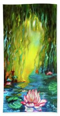 Lotus And Lily Pads Beach Towel