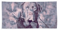 Love Of Dogs Beach Sheet by Allen Beilschmidt