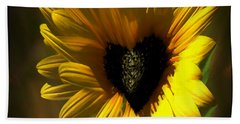 Love Sunflower Beach Sheet