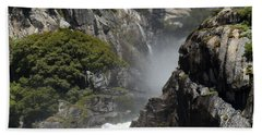 Lower Yosemite Falls Beach Towel