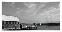 Beach Towel featuring the photograph Lubec, Maine by Trace Kittrell
