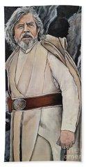 Luke Skywalker Beach Towel by Tom Carlton