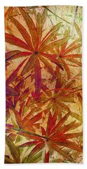 Lupin Leaves Beach Towel